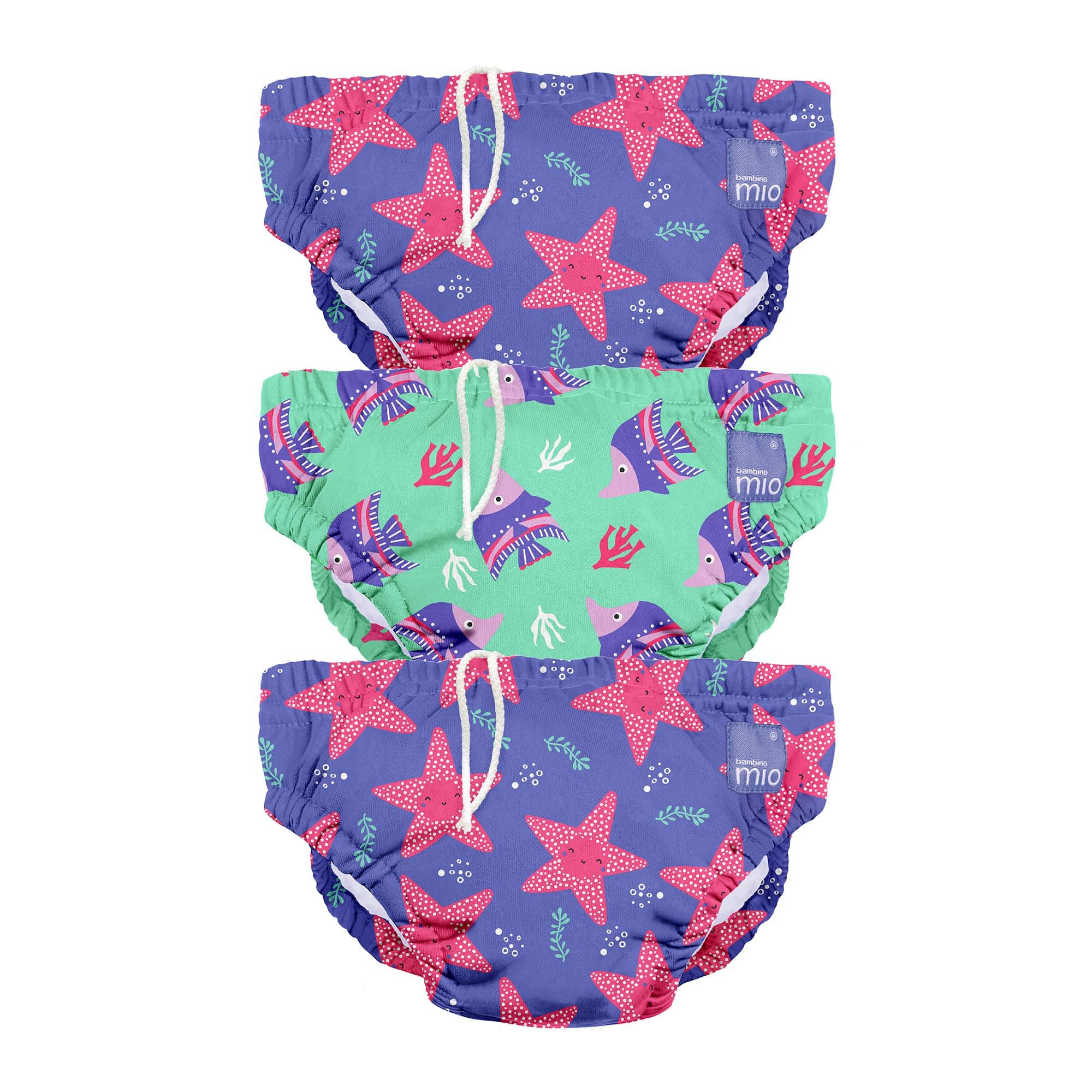 Schwimmwindel 3er-Packung Violett