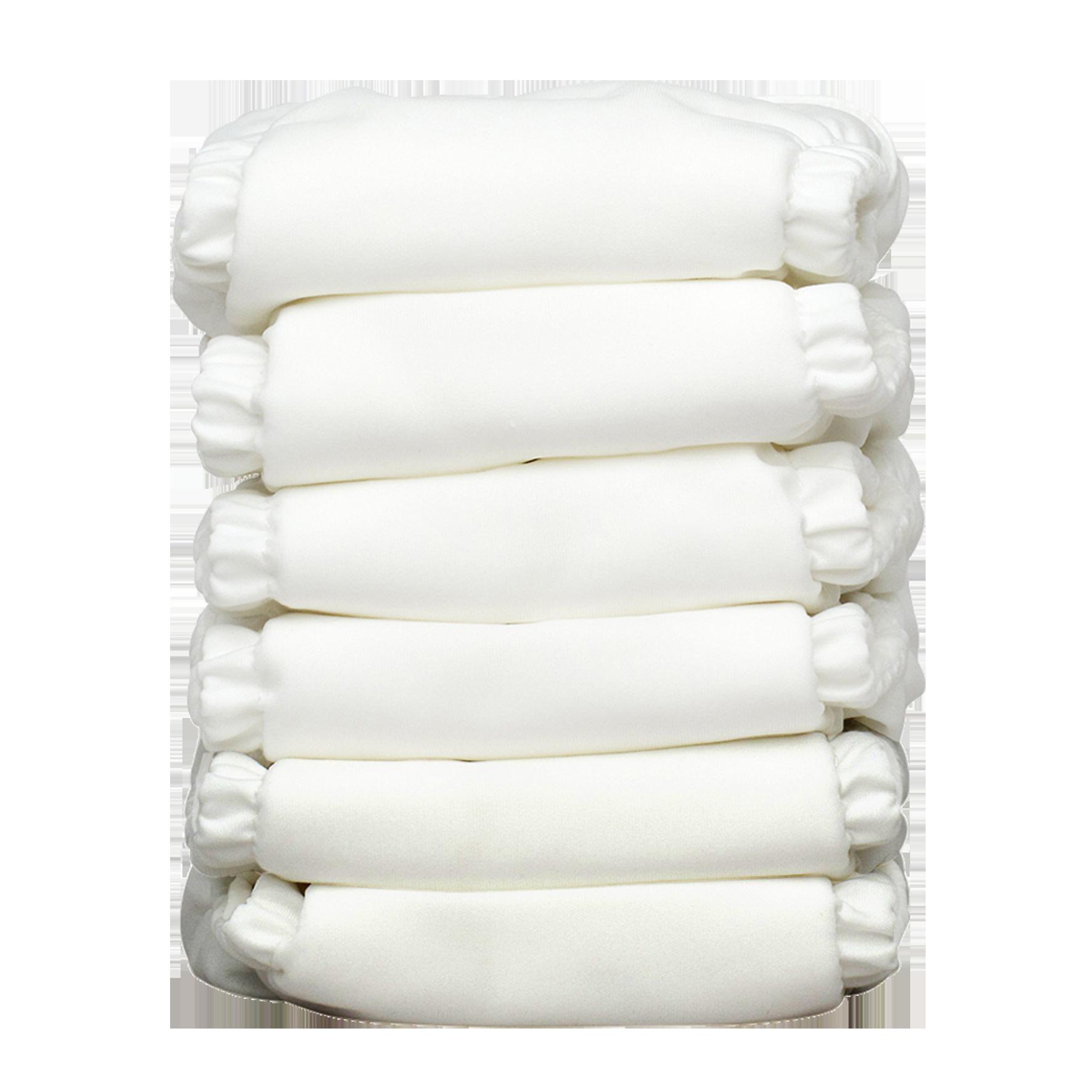 Charlie Banana Stoffwindeln - All White 6er-Pack