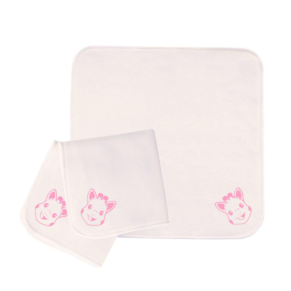 10 Reinigungstücher doppelseitig Sophie La Girafe Pink