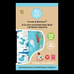 Charlie Banana Stoffwindeln - Organic Florida Safari Blue 3er-Pack