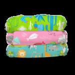 Charlie Banana Stoffwindeln - Organic Florida Safari Pink 3er-Pack