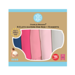"""Charlie Banana """"My First Diaper"""" - Pastel Pink 5er-Pack"""