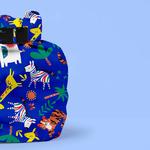 Windelbeutel Safari Party Blau