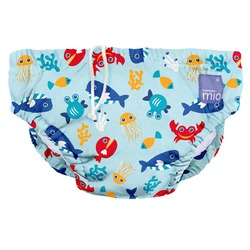 Bambino Mio Schwimmwindel Meerestiere blau