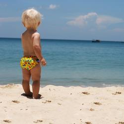 Bambino Mio Schwimmwindel Meerestiere gelb