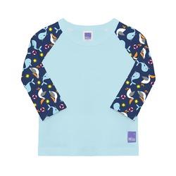 Bade-Shirt mit UV-Schutz blau