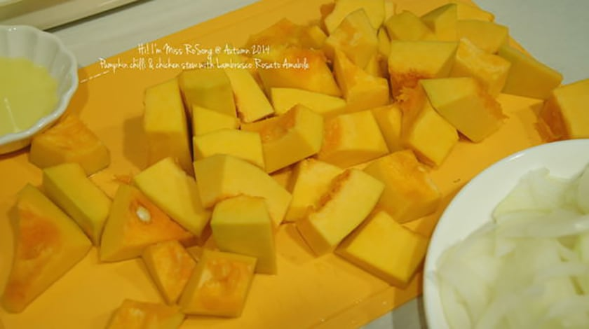 【美味食譜x美酒】秋日南瓜燉雞肉 Pumpkin & chilli chicken stew