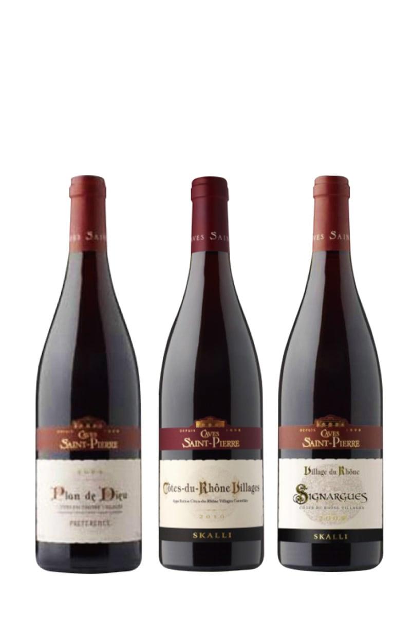 法國 紅酒 > 聖彼爾 隆河丘村莊級+西尼亞村莊級+神謀村莊級(三款各二,一套共六瓶)