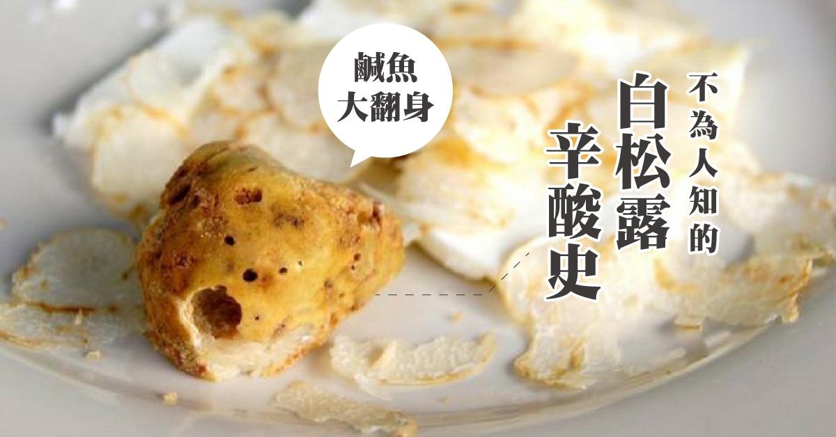 【 食材故事 】樸質華麗的神秘食材:白松露