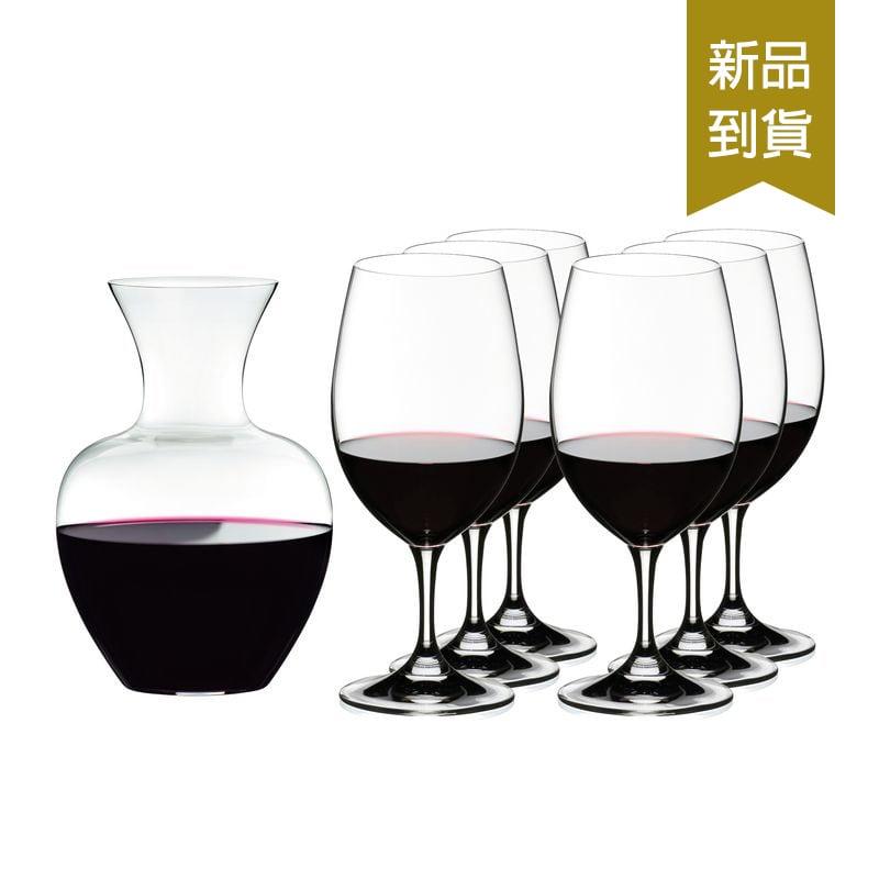 RIEDEL  Magnum Ouverture 買紅酒杯送醒酒器7件超值組