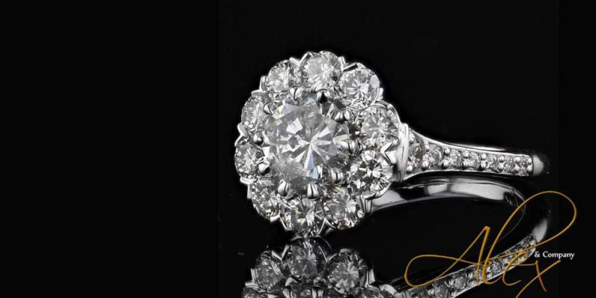 Double Prong Platinum Ring