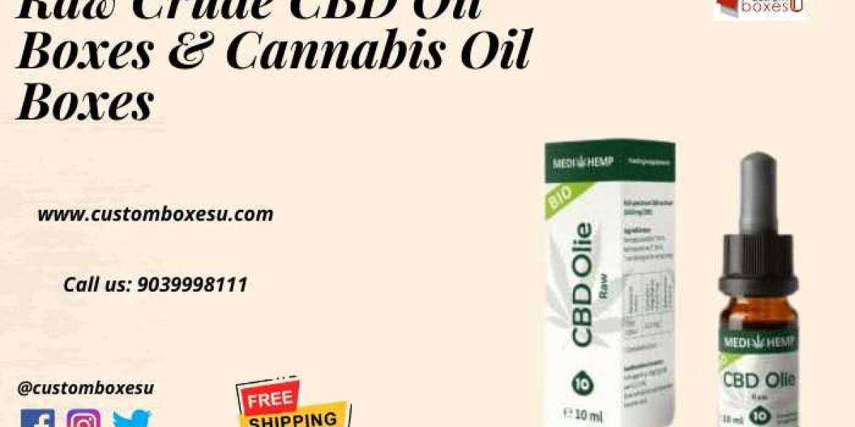 Raw CBD Oil Boxes & Cannabis Oil Boxes with Printed Logo & Design