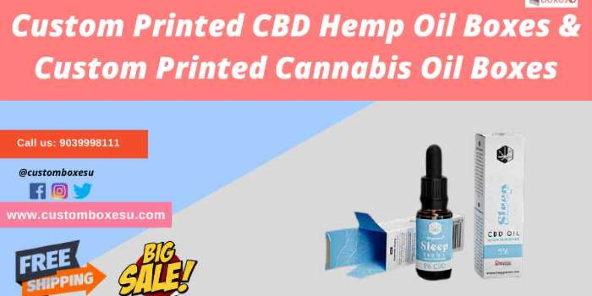 Get CBD Hemp Oil Boxes & Cannabis Oil Boxes with attractive design in USA