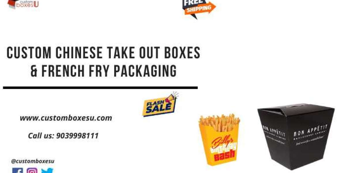 Chinese take out boxes & French fry packaging in custom design and shapes
