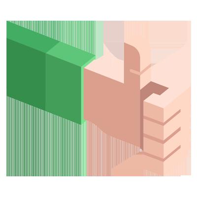 Logo d'un pouce levé vers le haut