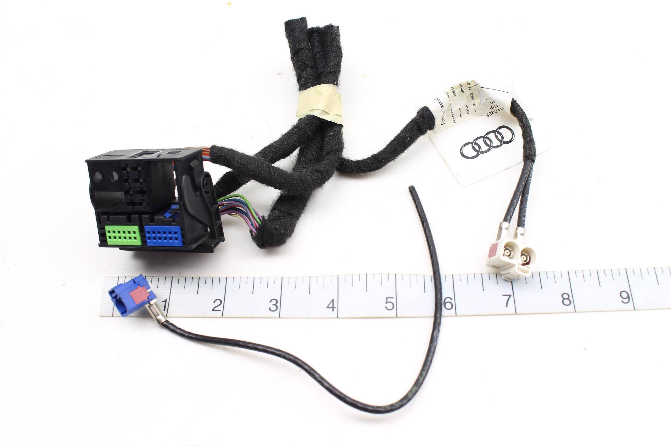 07 08 audi rs4 b7 - rnse / rns-e radio nav unit wiring harness / connector  set