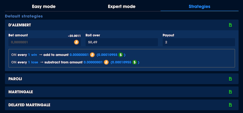 default strategies for bitcoin dice auto bet