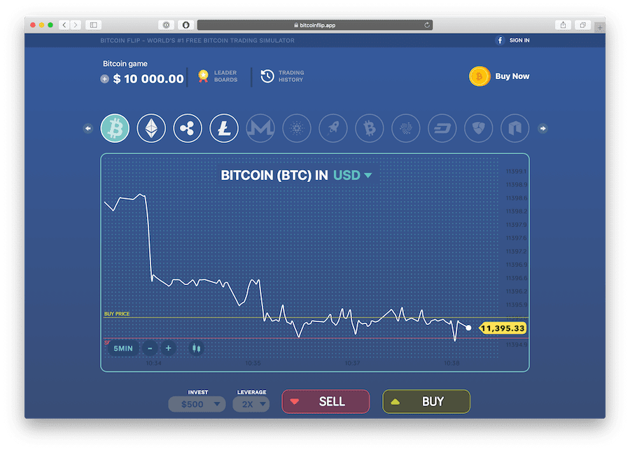 bitcoin flip is a crypto trading simulator game