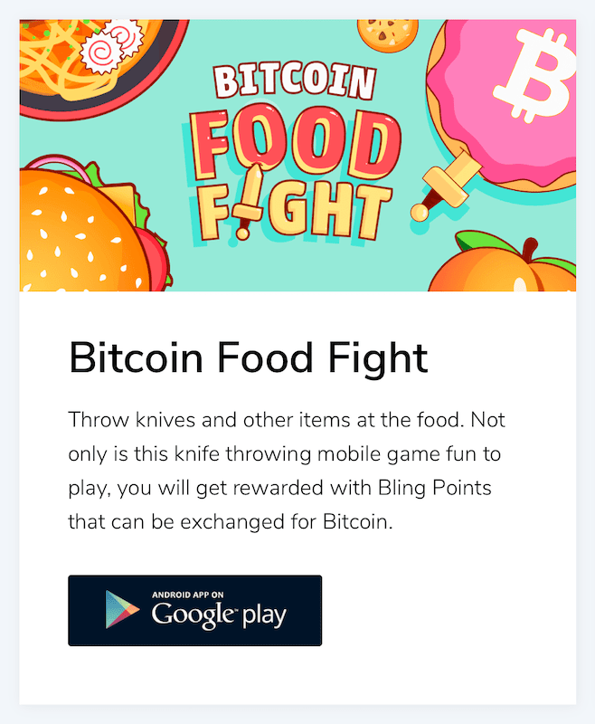 bitcoin food fight is the forth installation in the bling bitcoin series
