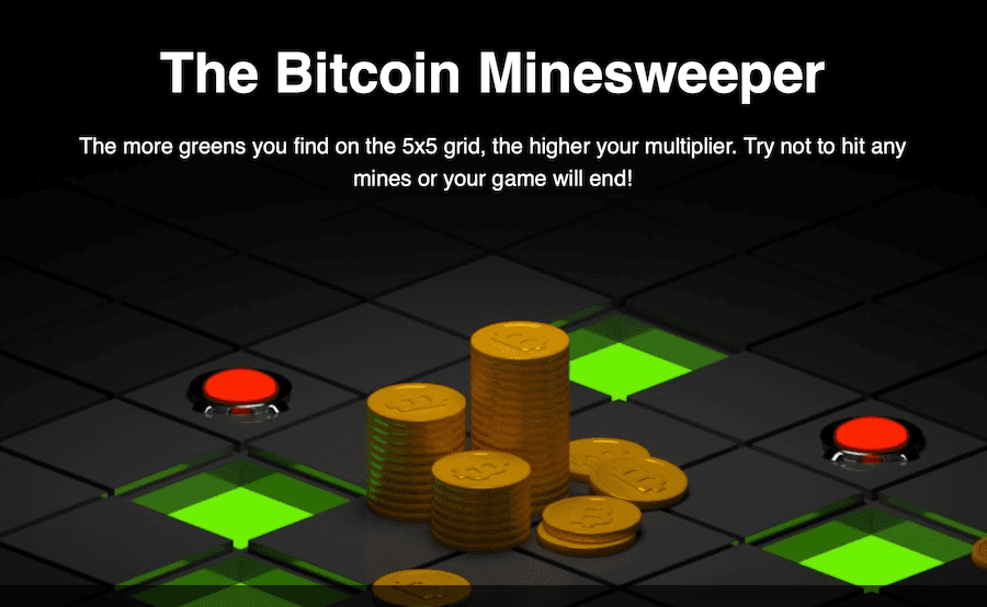 mines is an interesting bitcoin game concept derived from minesweeper