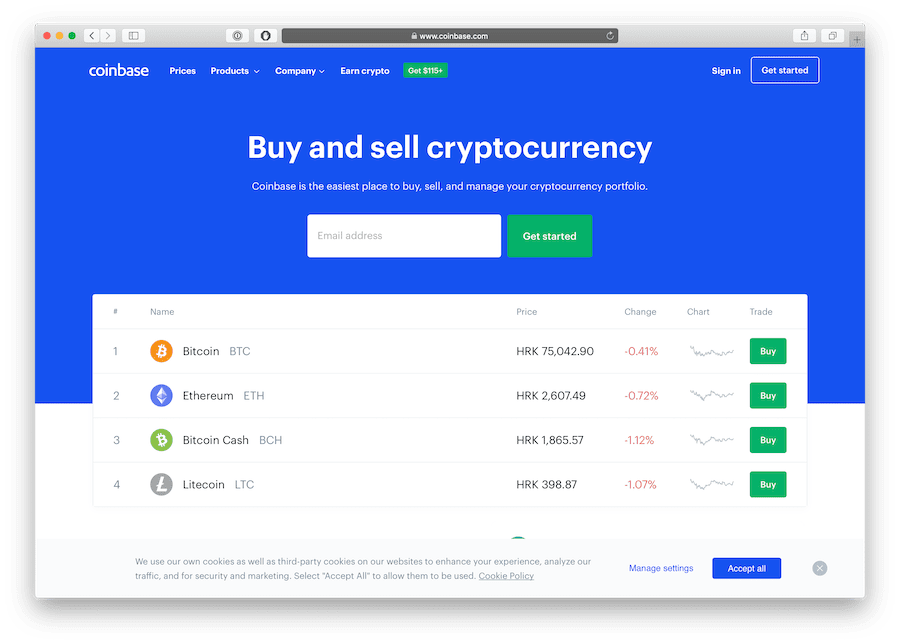 the most famous crypto exchange is coinbase