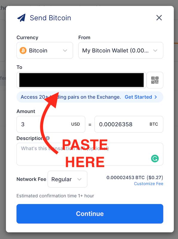 view of blockchain.com bitcoin transfer