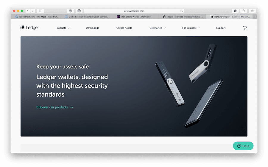 the ledger is a physical wallet for cryptocurrencies