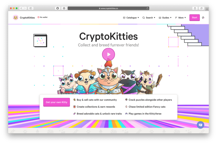cryptokitties is a great ethereum game