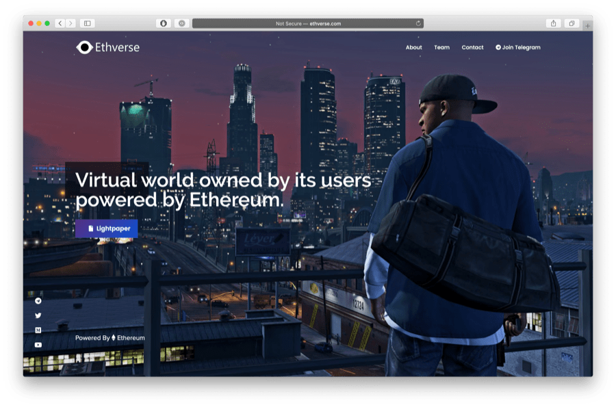 ethverse is a cool ethereum game