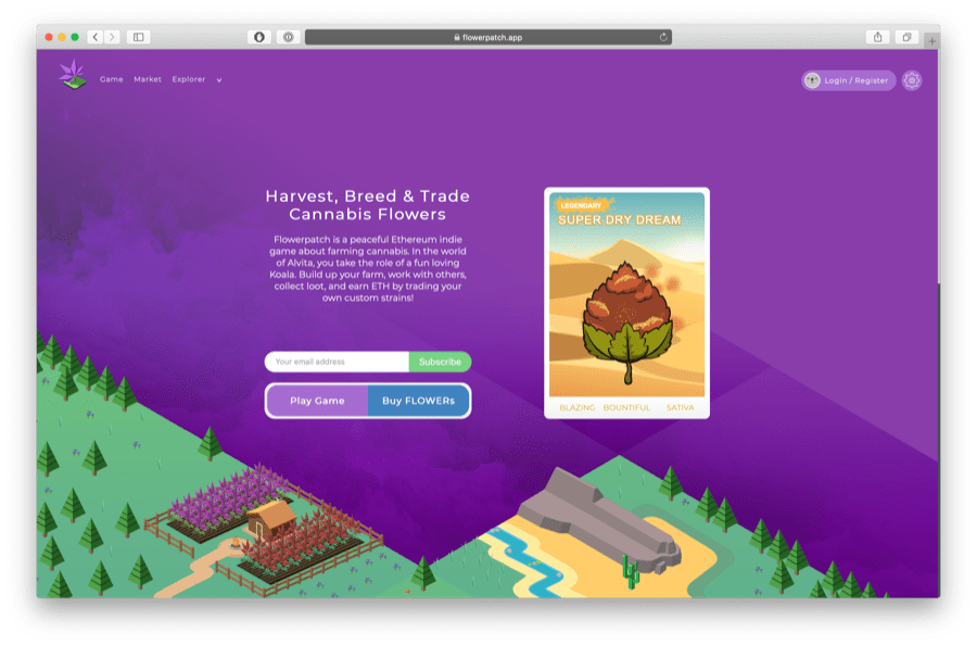 flowerpatch is a game about marijuana