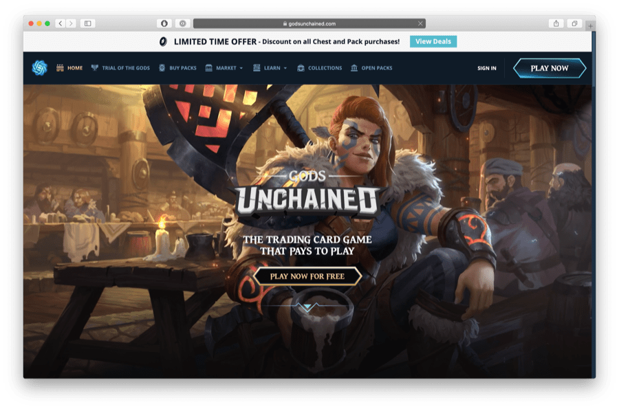 gods unchained ethereum game