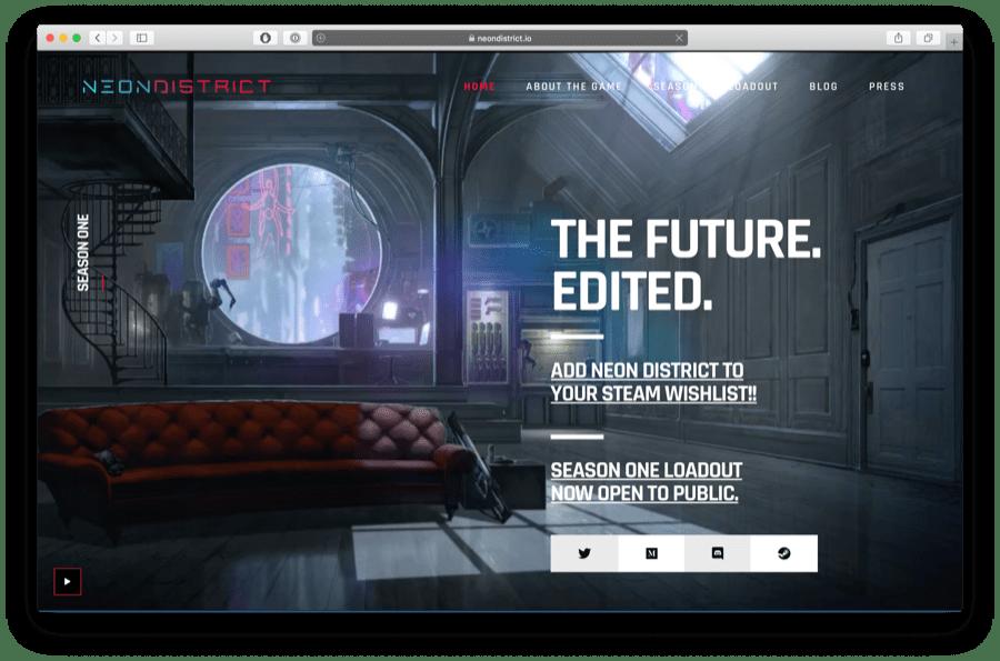 neon district is a futuristic game