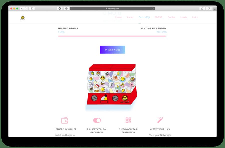 niftymojis uses emojis as a game
