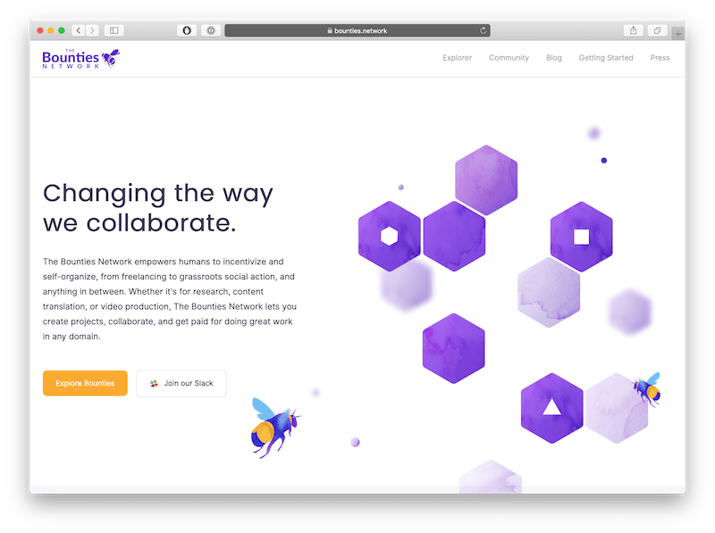 the bounties network is a great dapp for sharing bounties