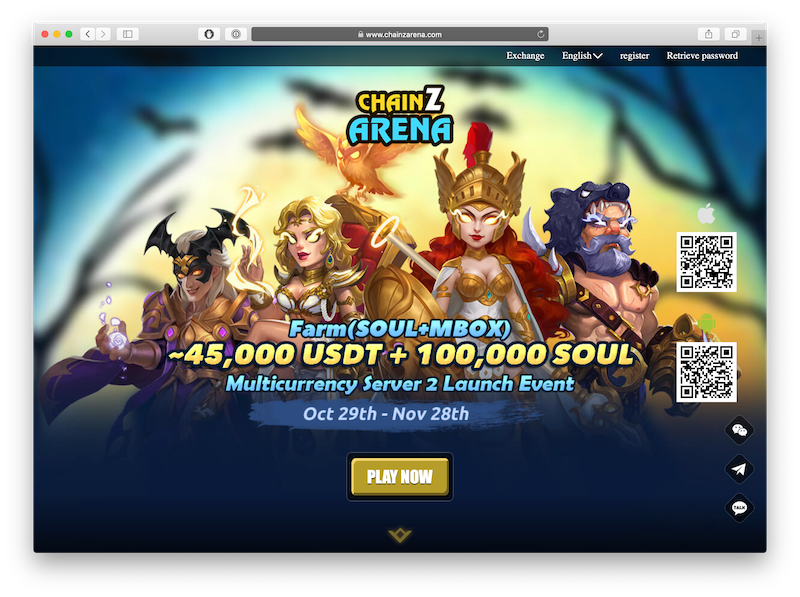chainz arena is a dapp game powered by tron