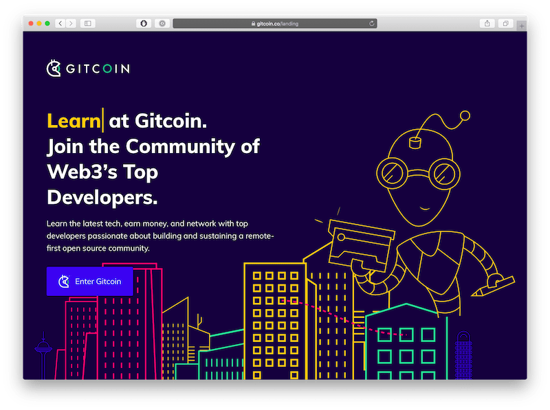 gitcoin community dapp home page