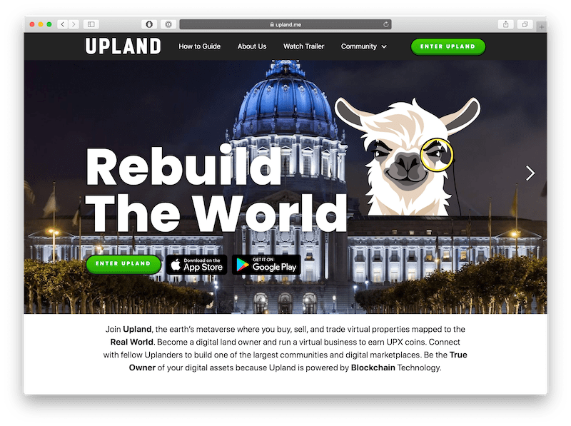 upland is an interesting dapp game