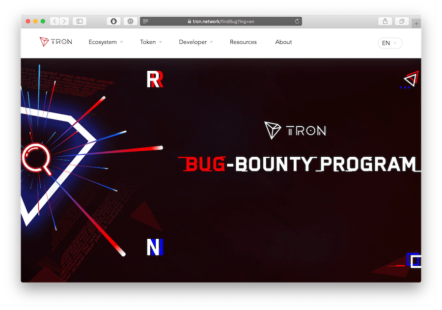 tron vs ethereum bug bounty program