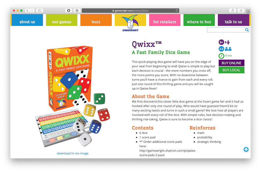 qwixx is a fun family game with dice