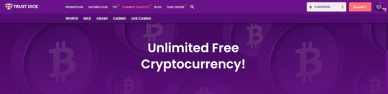 trustdice is one of many bitcoin gambling sites with faucet