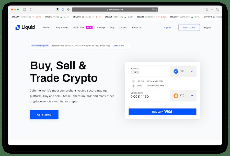 liquid exchange to buy defi crypto