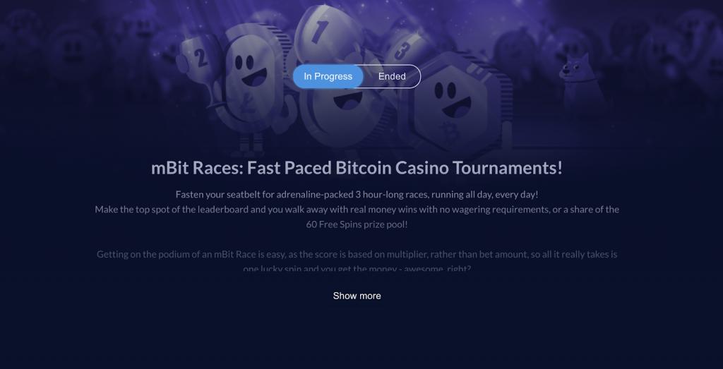 mbit casino tournament section