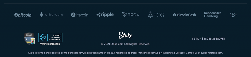 stake.com offers crypto including ethereum gambling