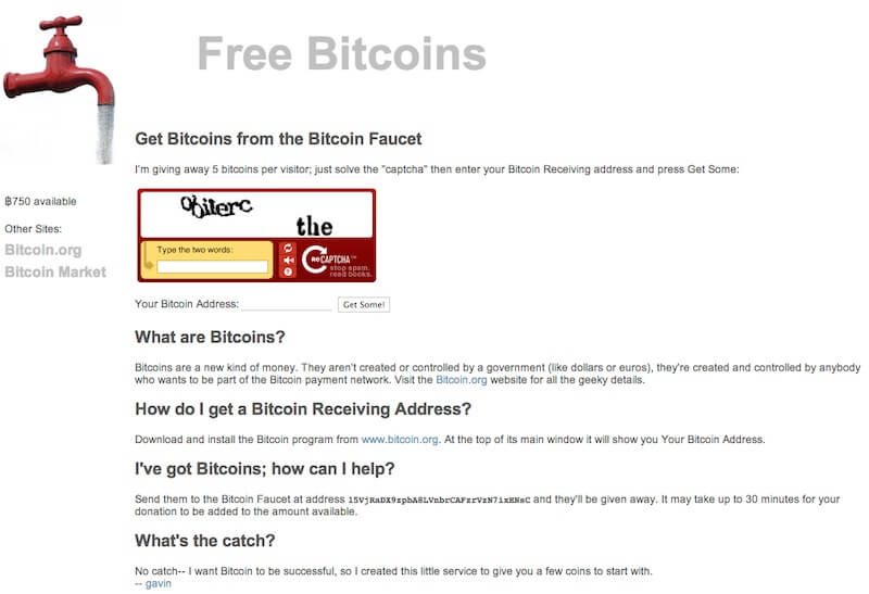 original bitcoin faucet what is it
