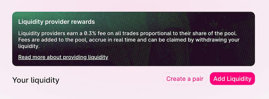 uniswap offers rewards to liquidity pool providers