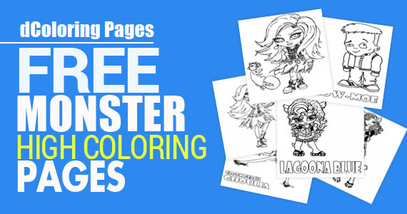 Free Monster High Coloring Pages