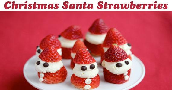 Christmas Santa Strawberries Recipe