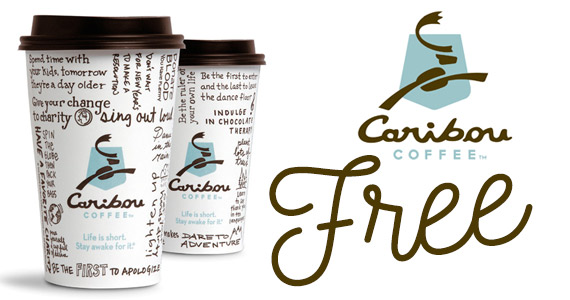 Free Medium Coffee at Caribou Coffee