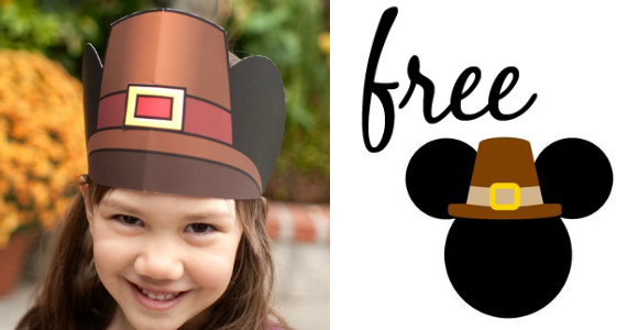 free mickey pilgrim hat printable