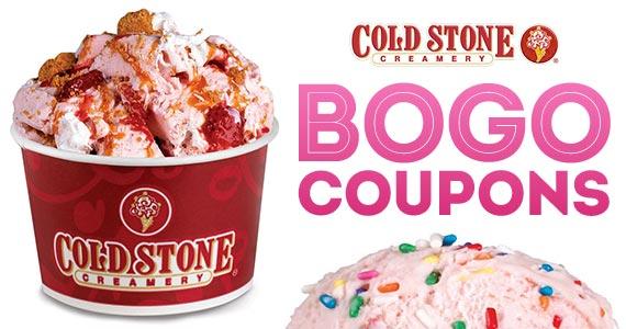 Cold Stone Creamery BOGO Coupons